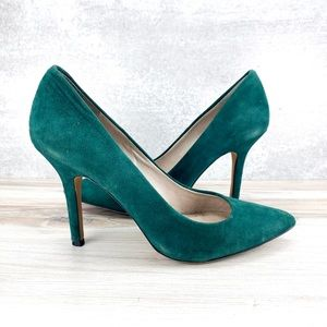Vince Camuto Teal Suede Pumps - 7M